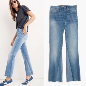 Madewell Cali Demi Boot Jeans Inset Edition